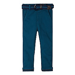 Baker by Ted Baker - Boy's dark turquoise belted slim chinos