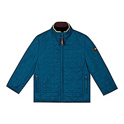 Baker by Ted Baker - Boy's dark turquoise houndstooth quilted jacket