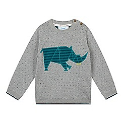 Baker by Ted Baker - Boy's grey spotted rhino jumper