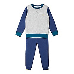 Baker by Ted Baker - Boy's blue quilted sweater and joggers set
