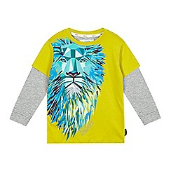 Baker by Ted Baker - Boy's lime geometric lion print top