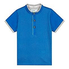 Baker by Ted Baker - Boy's blue jacquard spot henley t-shirt