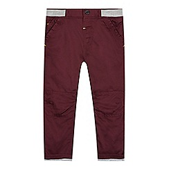 Baker by Ted Baker - Babies plum ribbed waist chinos