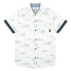 Baker by Ted Baker - Boy's white rhino printed shirt
