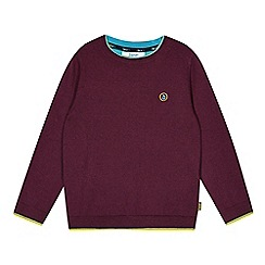 Baker by Ted Baker - Boy's plum merino wool blend jumper