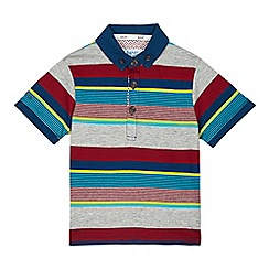 Baker by Ted Baker - Boys' grey striped polo shirt