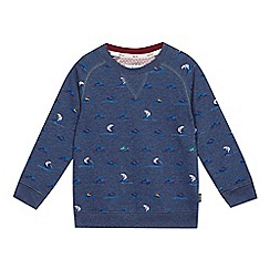 Baker by Ted Baker - Boys' blue bear on jet ski printed sweat top