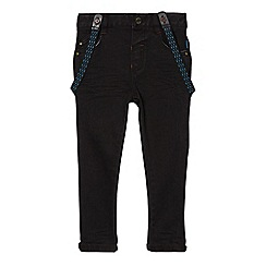 Baker by Ted Baker - Boys' black skinny jeans with braces