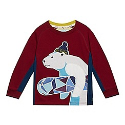 Baker by Ted Baker - Boys' dark red polar bear sweat top