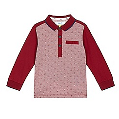 Baker by Ted Baker - Boys' dark red geometric shirt