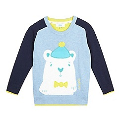 Baker by Ted Baker - Boys' blue polar bear jumper