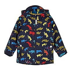 Baker by Ted Baker - Boy's navy rhino printed neoprene jacket
