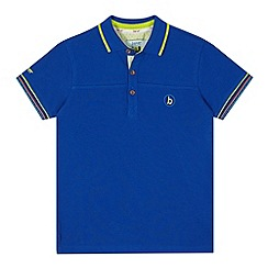 Baker by Ted Baker - Boy's blue logo polo shirt