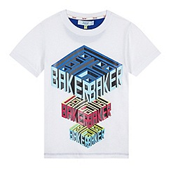 Baker by Ted Baker - Boy's white graphic logo t-shirt