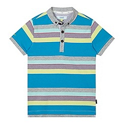 Baker by Ted Baker - Boy's blue multi striped polo shirt