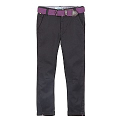 Baker by Ted Baker - Boy's grey belted dogtooth trousers
