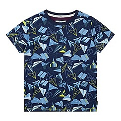 Baker by Ted Baker - Boy's navy paper planes printed t-shirt