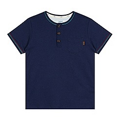 Baker by Ted Baker - Boy's navy striped trim top