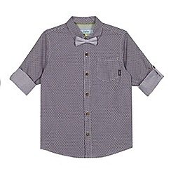 Baker by Ted Baker - Boy's plum tiled pocket shirt and tie