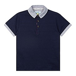 Baker by Ted Baker - Boy's navy contrast collar polo shirt