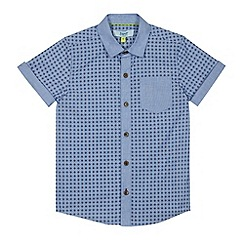 Baker by Ted Baker - Boy's blue diamond short sleeved shirt