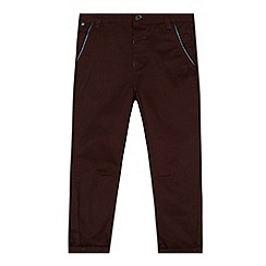 Baker by Ted Baker - Boy's plum houndstooth chinos