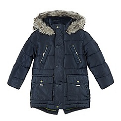 Baker by Ted Baker - Boy's navy faux fur lined padded parka