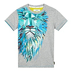 Baker by Ted Baker - Boy's grey geometric lion print t-shirt