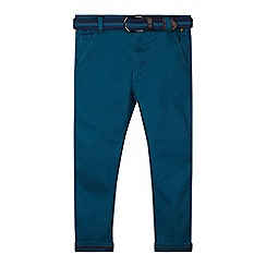 Baker by Ted Baker - Boy's dark turquoise belted slim fit chinos