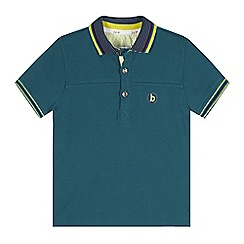 Baker by Ted Baker - Boy's dark turquoise icon logo pique polo shirt