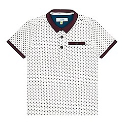 Baker by Ted Baker - Boy's white mini diamond print polo shirt