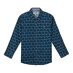 Baker by Ted Baker - Boy's dark turquoise geometric print shirt