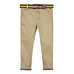 Baker by Ted Baker - Boy's natural belted slim fit chinos