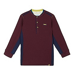 Baker by Ted Baker - Boy's plum ribbed long sleeved top