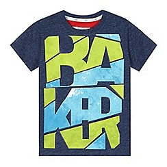 Baker by Ted Baker - Boy's navy graphic logo t-shirt