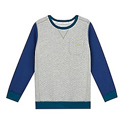 Baker by Ted Baker - Boy's grey quilted sweatshirt