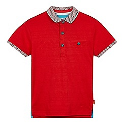Baker by Ted Baker - Boy's red striped jacquard polo shirt