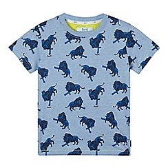 Baker by Ted Baker - Boy's blue lion printed t-shirt