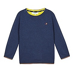 Baker by Ted Baker - Boys' blue Merino wool blend jumper