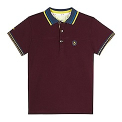 Baker by Ted Baker - Boy's plum icon logo pique polo shirt