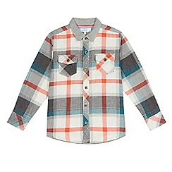 Baker by Ted Baker - Boys' orange checked shirt