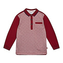 Baker by Ted Baker - Boys' dark red geometric print polo top