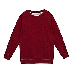Baker by Ted Baker - Boys' dark red geometric print sweat top