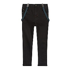 Baker by Ted Baker - Boys' black jeans with braces