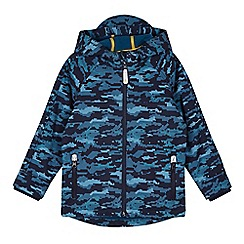 Baker by Ted Baker - Boy's navy camouflage neoprene jacket