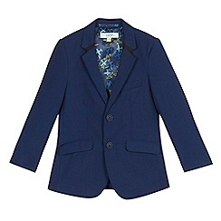 Baker by Ted Baker - Boys' navy mini checked print jacket