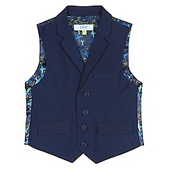 Baker by Ted Baker - Boys' navy mini checked print waistcoat