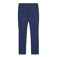 Baker by Ted Baker - Boys' navy mini checked print trousers