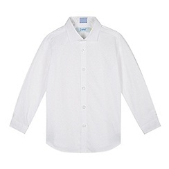 Baker by Ted Baker - Boy's white circle printed formal shirt
