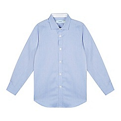 Baker by Ted Baker - Boy's blue geometric formal shirt